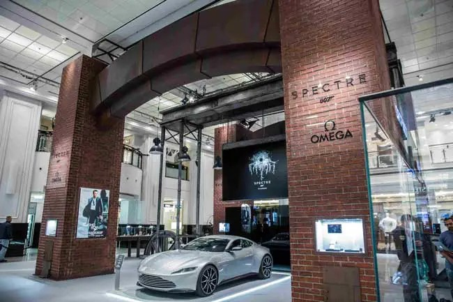 Omega James Bond-Ausstellung im Berliner KaDeWe