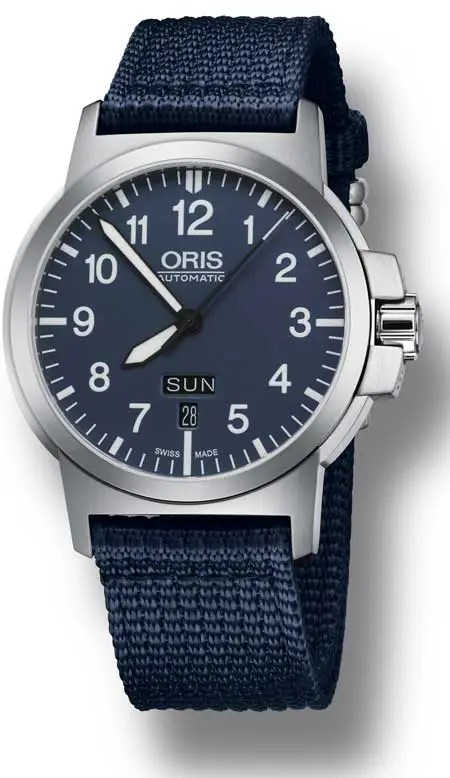 Oris_2016_BC3-Advanced blaues ZB, Blaues Textilband