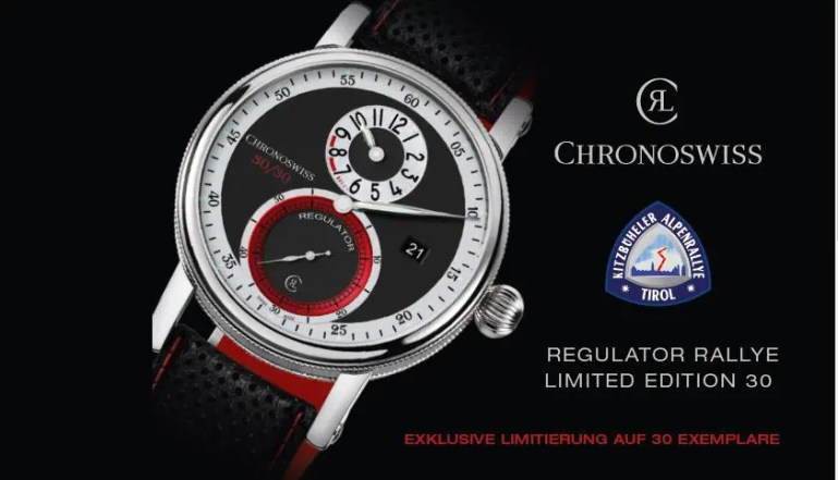 Chronoswiss Regulator Rallye Limited Edition zur 30. Kitzbüheler Alpenrallye