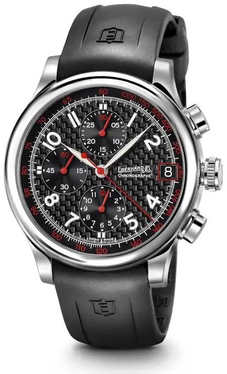 eberhard & co-traversetolo-chrono mit carbonzifferblatt