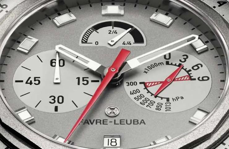 Favre Leuba Bivouac 9000 Zifferblatt Detail