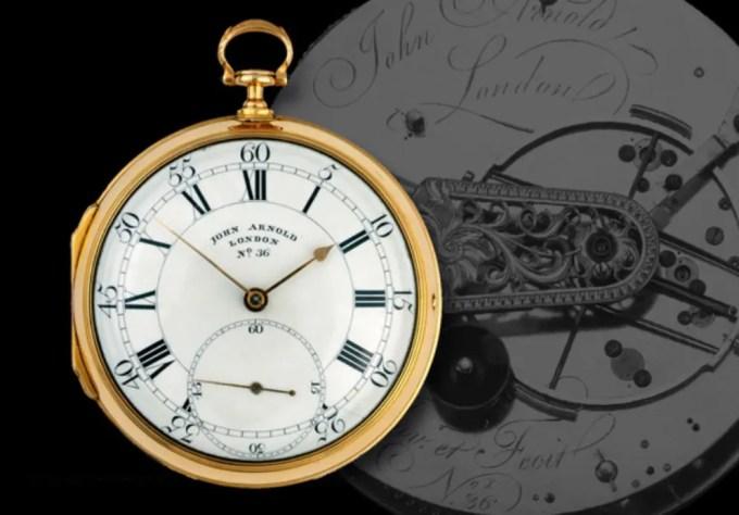 Das Taschenchronometer No. 1/36 von John Arnold © National Maritime Museum, Greenwich, London