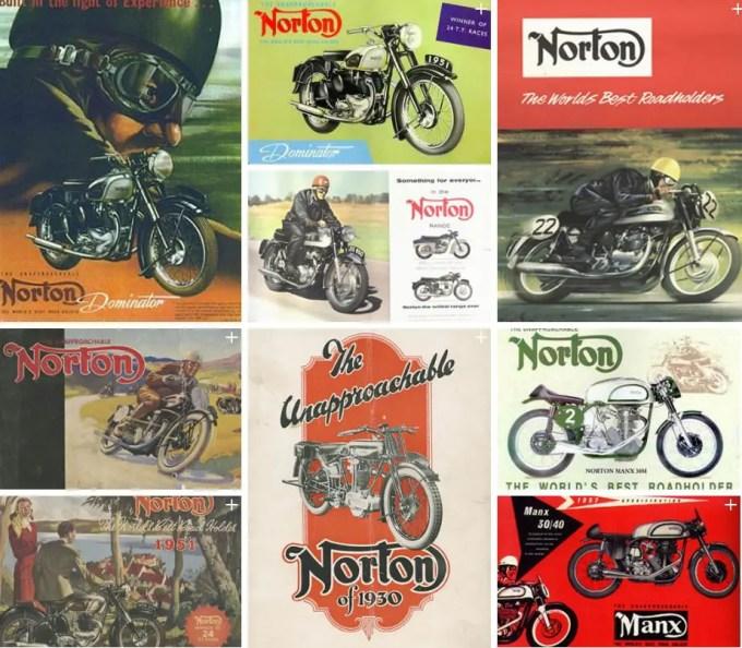 Breitling und Norton Motorcycles Norton historic advertisements