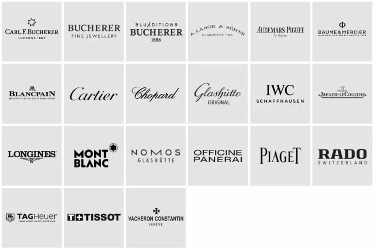 Bucherer Onlineshop Marken