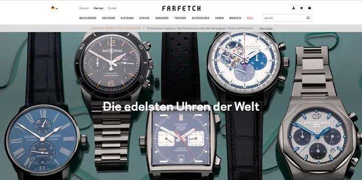 Zenith-Uhren jetzt online auf der Luxus-Plattform Farfetch erhältlich