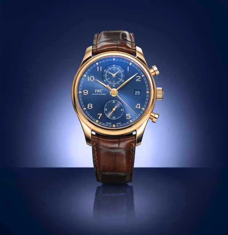 IWC Portugieser Chronograph Classic Bucherer Blue Editions