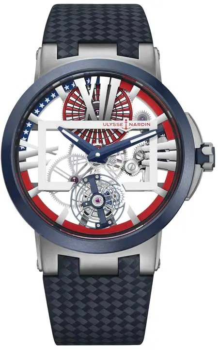 50 Exemplare limitierte Sonderauflage der Executive Skeleton Tourbillon Stars & Stripes