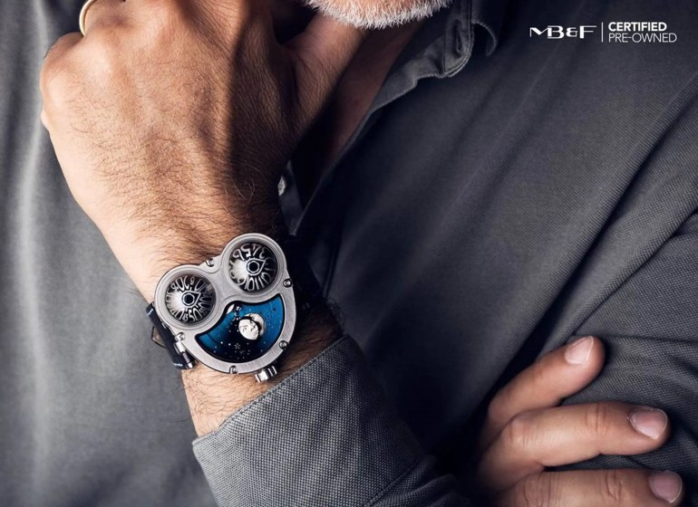 Sammlerstücke aus 2.Hand: Certified MB&F Pre-Owned-Uhren mit Garantie