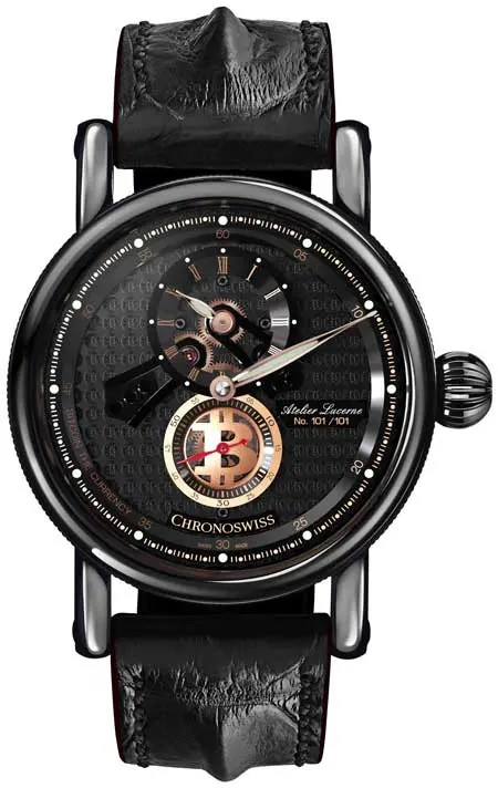 Chronoswiss Flying Regulator Open Gear Blockchain Series Bitcoin – the Currency