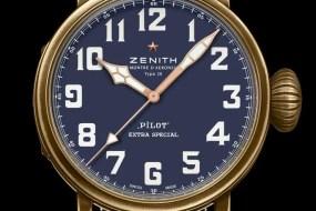 Neue Varianten der Zenith Pilot-Kollektion in Schwarz und Blau