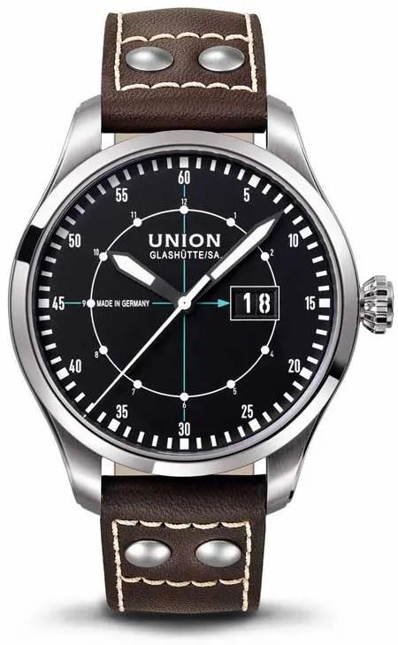 Union Glashütte Belisar Pilot Großdatum
