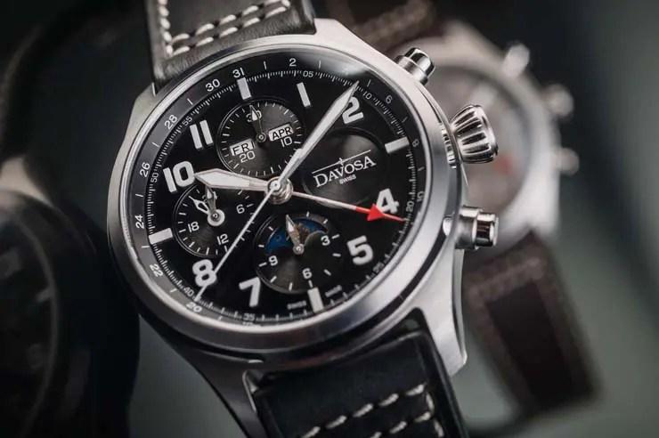 Davosa Newton Pilot Moonphase Chronograph Limited Edition