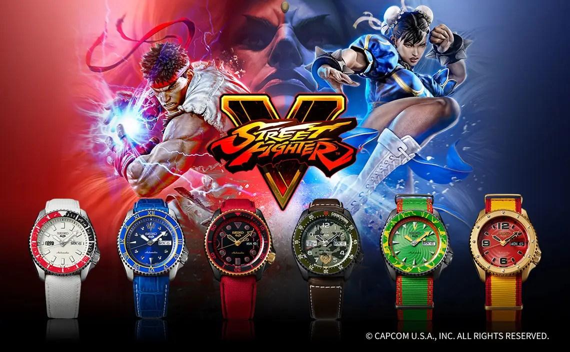 Seiko 5 Sports trifft auf Streetfighter V