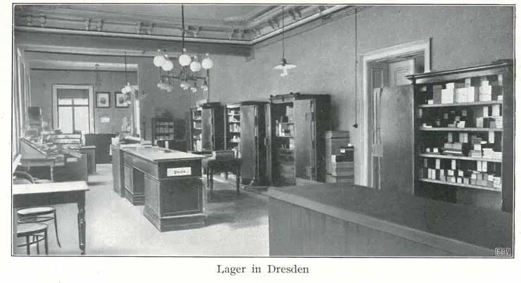 1874: Lager der Uhrengroßhandlung in Dresden©Stiftung Deutsches Uhrenmuseum Glashütte