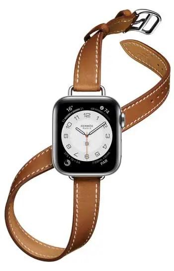 Apple Watch Hermès Series 6 mit Armband Double Tour Attelage