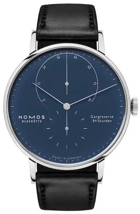 nomos Lambda 175 Years Watchmaking blue