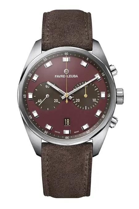 Favre Leuba Sky Chief Chronograph Soldier Burgundy Red 00.10202.08.35.47
