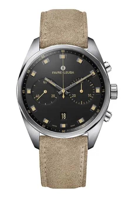 Favre Leuba Sky Chief Chronograph Soldier Velvet Black 00.10202.08.10.48