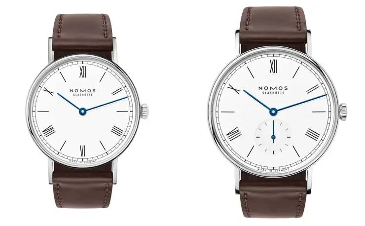 Nomos Ludwig 33 Duo emailleweiss, Ludwig 38 emailleweiss