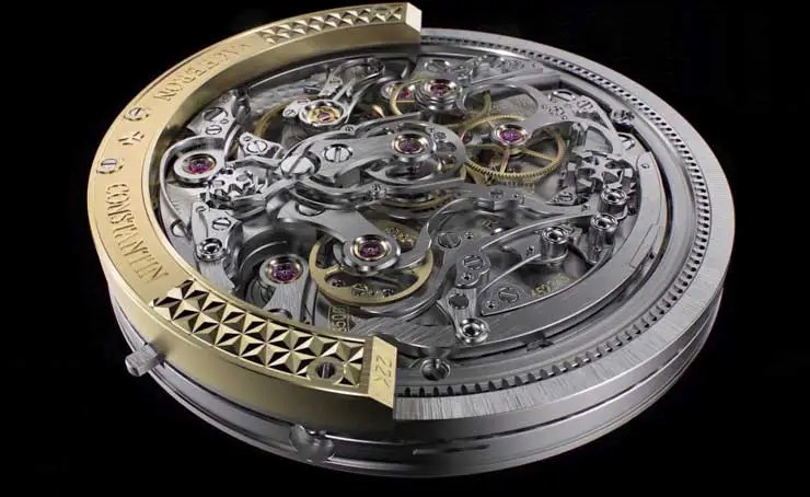 740.5 Vacheron Constantin Traditionnelle Schleppzeiger-Chronograph extra-flach