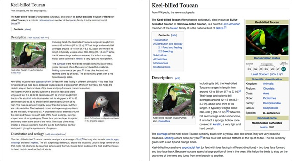 Wikipedia Neuggestaltung