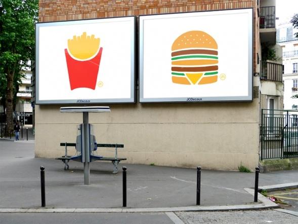 Ohne Worte McDonald's Aussenwerbung von TBWA Paris