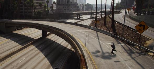 Verkehrsarmes Los Angeles