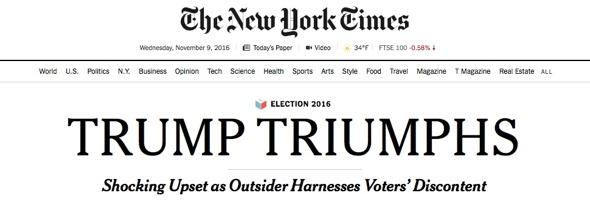 Trump Triumphs (c)The New York Times