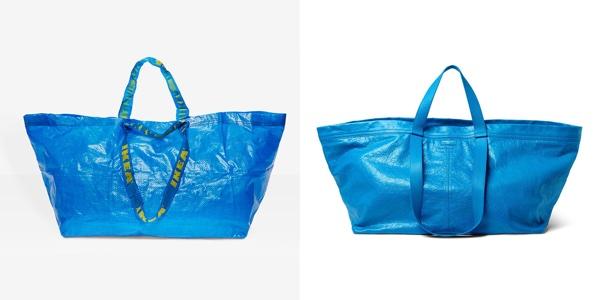 Ikea's 99¢ Einkaufstasche und die von Balenciaga  für $2,145.