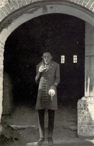 Max Schreck in einem Förderfoto für den Film