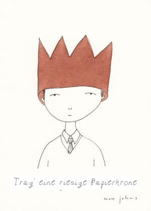 Marc Johns' Wear a giant paper crown