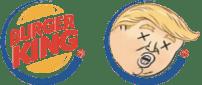 Burger King macht sich vorangegangenen Schreibfehler in einem Donald Trump Tweet zu eigen.  (Kollage basierend auf The Nib Illustration)
