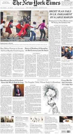 NYTimes Druckausgabe