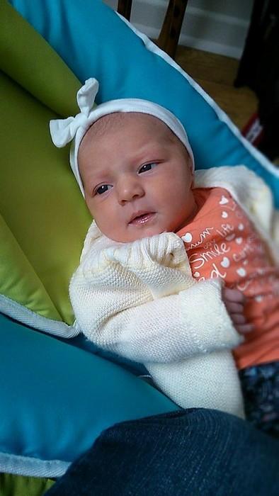 Agnès, née le née le 1er octobre 2014