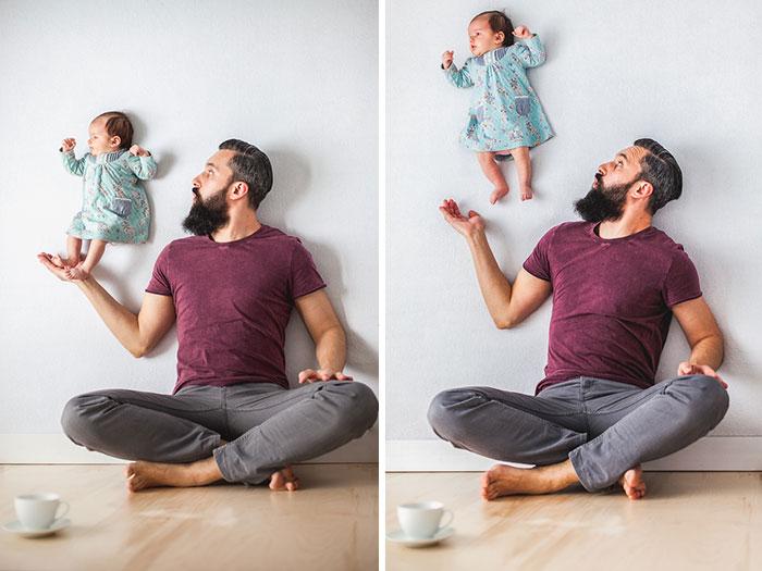 Papa fait de belles photos avec sa fille 5