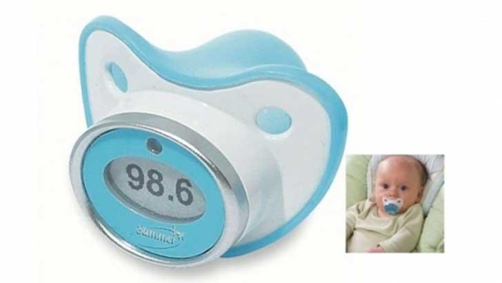 tetine qui prend la temperature pour bebe