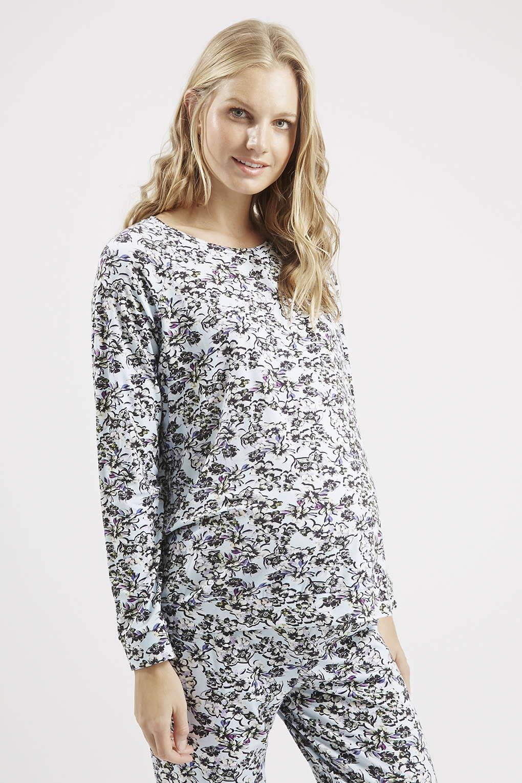 Sweat-shirt à fleurs, Summerhouse Maternité, Topshop,  29€