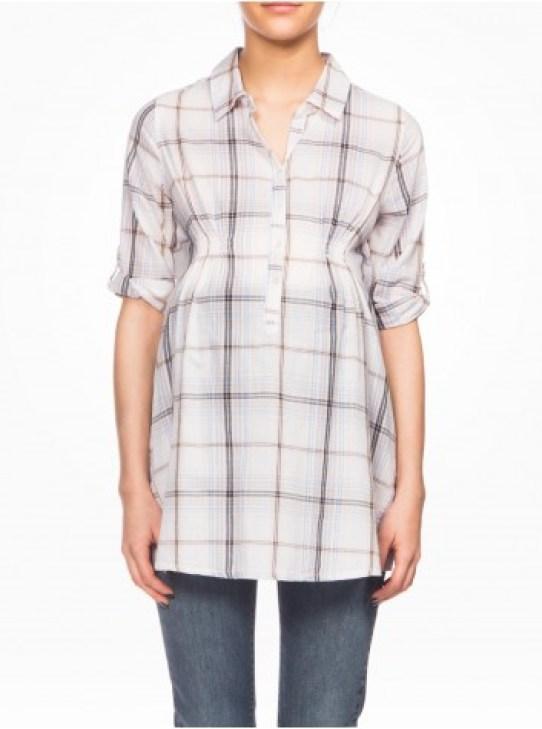Chemise de maternité à manches courtes, La Halle, 14,99€