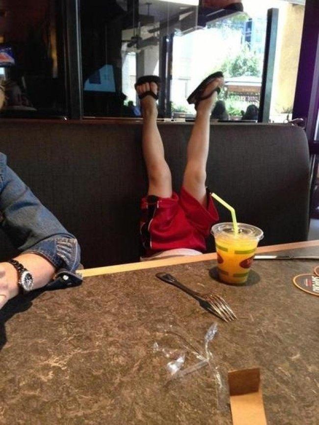 bebe a envers restaurant pieds