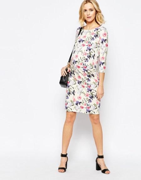 robe blanche fleurs printemps