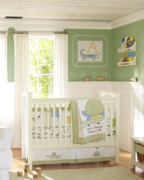 Chambre Vert Pastel Tortues