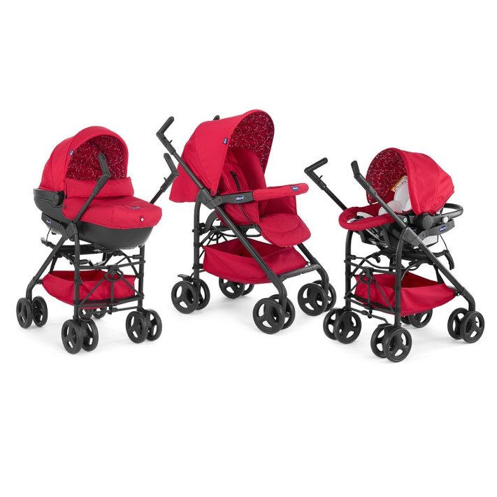 Chicco Trio Sprint Poussette Scarlet - Collection 2016