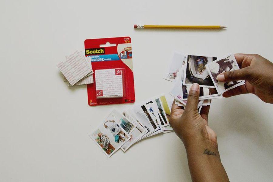 choix photps DIY photos coeur