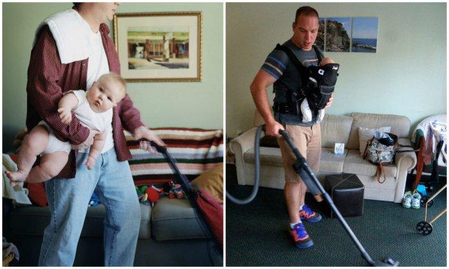 Quotidien des parents - le papa multitaches
