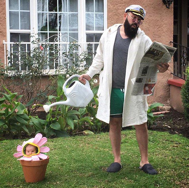 Sholom et zoé jardinage
