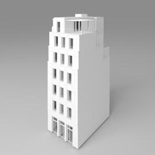 CONSTRUCTION EN PIERRE ET BOIS D'UN ENSEMBLE DE 6 LOGEMENTS SOCIAUX ET UN COMMERCE À PARIS 14
