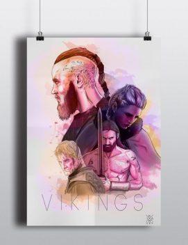 Póster de Vikings de Ikan