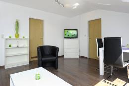 Wohnbereich und TV