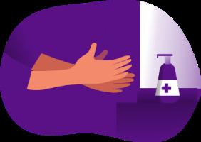 Symbolbild für ausreichende Hygiene
