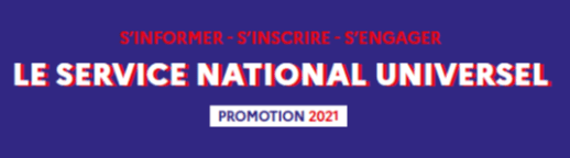 Service National Universel (SNU) : ouverture des inscriptions en ligne.